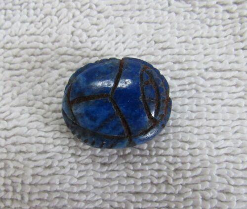 Ancient Egypt Egyptian Scarab Amulet Fetish Figure Lapis Lazuli Stone