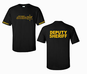deputy sheriff logo t shirt custom county law enforcement