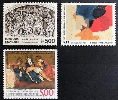 1988 France Art 5f Set of 3/4 MUH Full Orig Gum SG 2850-1, 2853