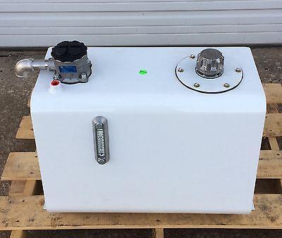 Heavy Duty 25-gallon Hydraulic Oil Tank Reservoir W Filter Temperature Gauge