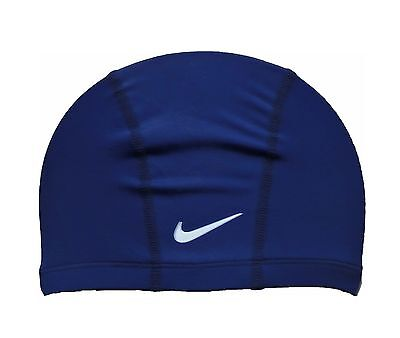Nike Kinder BADEKAPPE BADEHAUBE SCHWIMMKAPPE ERGO-FIT JUNIOR Blau NEU