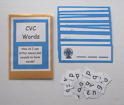 Teacher Made Literacy Center Educational Learning Resource Game CVC Words
