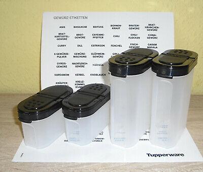 TUPPERWARE Gewürz-Riese 270 ml schwarz Gewürz Behälter Gewürzbehälter groß 8