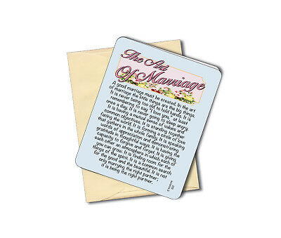 The Art Of Marriage - Wedding - Anniversary Greeting Card-Blank Inside -Sku# 632 (Blank Inside Art Card)