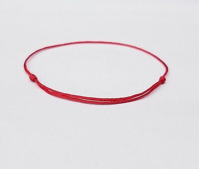 Red Lucky Bracelet String Adjustable. (String Bracelet)