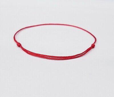Red Lucky Bracelet String (Adjustable Bangle)