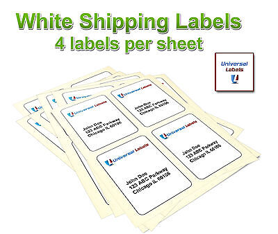 400 4x5 Postage Shipping Labels - Inkjet Laser 4 Labels Per Sheet