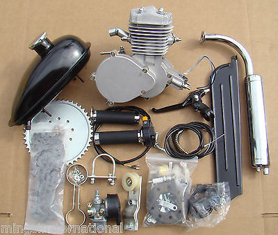 80cc Engine Kit Motorized Bicycle W/ Carburetor Coil Cable Tank Chain Petcock