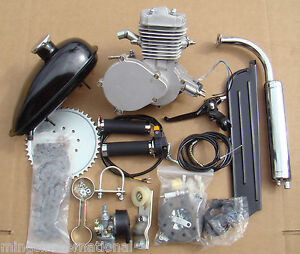 80cc-Engine-Kit-Motorized-Bicycle-W-Carburetor-Coil-Cable-Tank-Chain-Petcock