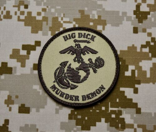 USMC Big Dick Murder Demon Embroidered Patch DTOM MARPAT Marine Corps Semper Fi
