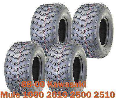 Set 4 Sport ATV Tires 22x11-10 6PR for 88-00 Kawasaki Mule 1000 2010 2500 2510