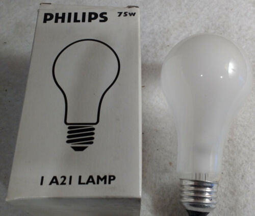 Philips 143453 (14345-3) 12v 75w, A21 Bulb / Lamp, Frosted, Medium Base
