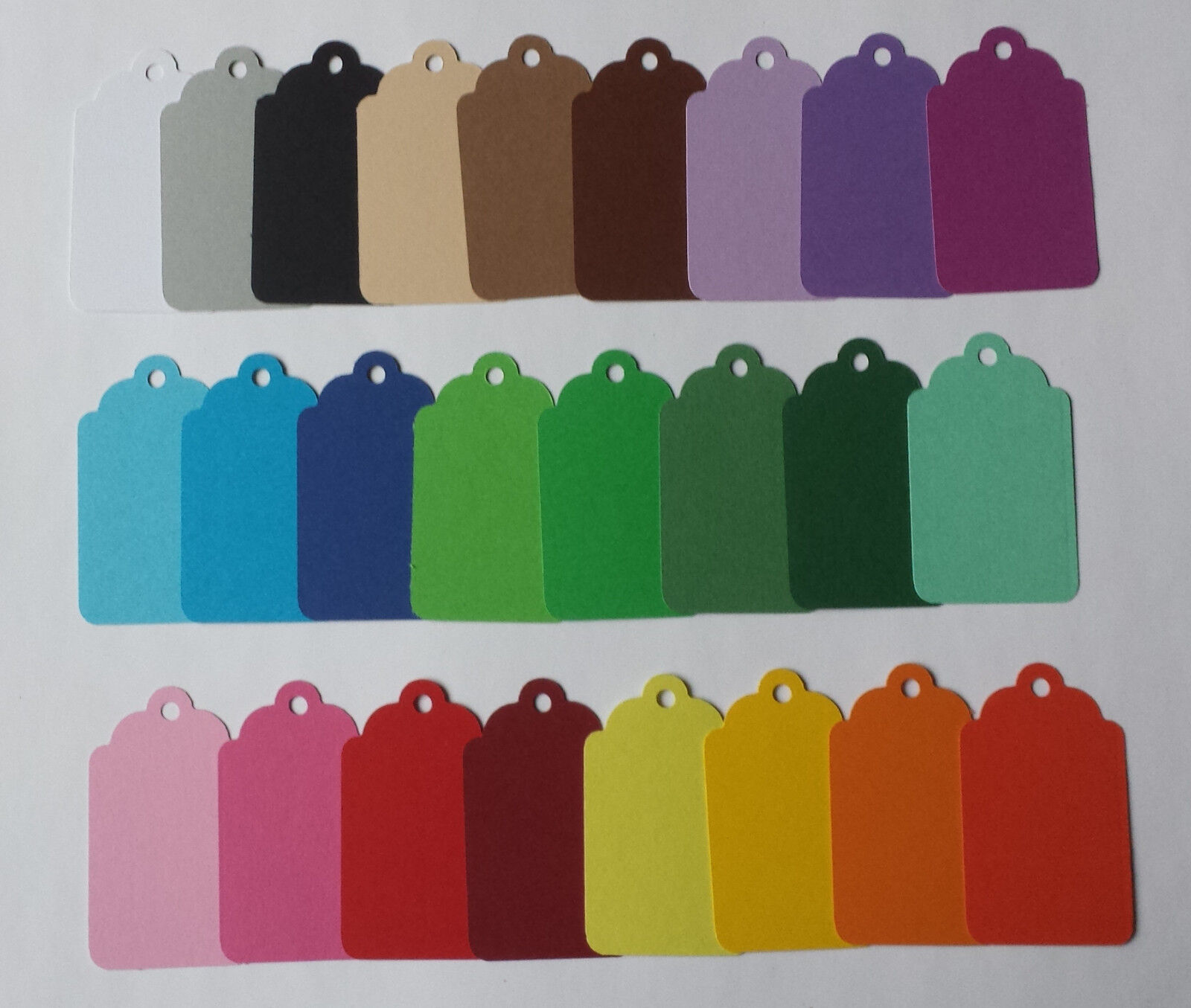 25 Geschenkanhänger, Etiketten, Tags, Label, 25 Farben u. 2 Größen. Farbwahl