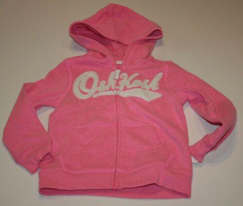 NEW OshKosh Girls Heritage White Logo Light Pink Hoodie NWT 2T 3T 4T Sweatshirt