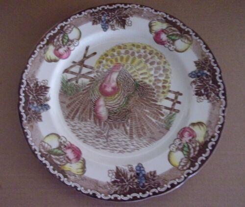American Tradition Ironstone Thanksgiving KING TOM 11.5 Dinner Plate