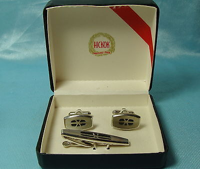HICKOCK CUFFLINKS TIE BAR SET ORIGINAL BOX on Rummage