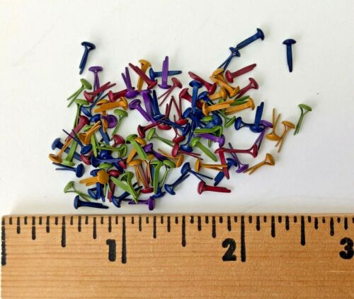 Fasteners - Small Brads - 2mm Asst. Fall  Colors - 100 - NEW