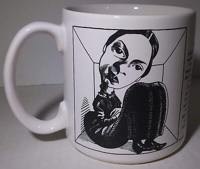 Emily Dickinson Coffee Mug 12 Fl Oz White Cup American Poet Black Design  ()