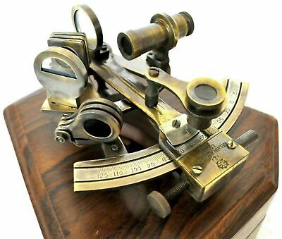 Nautical KELVIN /& HUGHES Solid Brass Astrolabe Sextant Maritime Working Sextant