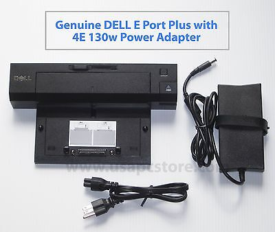 dell docking replicator e port plus pr02x e6420 e6430 k09a cy640 + pa-4e adapter