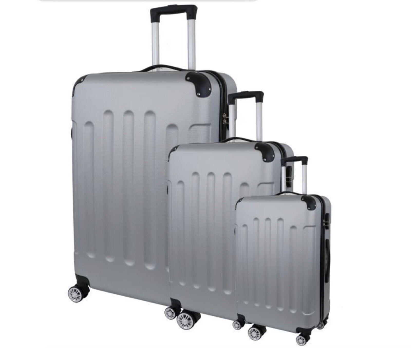 ORMI Set di trolley rigidi con 4 doppie ruote freno girevoli Espandibili Fino 5 cm,Super leggero Alta qualita Set da 3 pezzi piccola media grande Lucchetto TSA