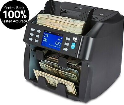 Mixed Bill Counter Sorter Cash Money Currency Counting Counterfeit Machine Zzap