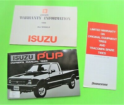 "1985 ISUZU ""Pup"" PICK-UP TRUCK OWNER MANUAL Looks Unused FACTORY ORIGINAL N-Mint"