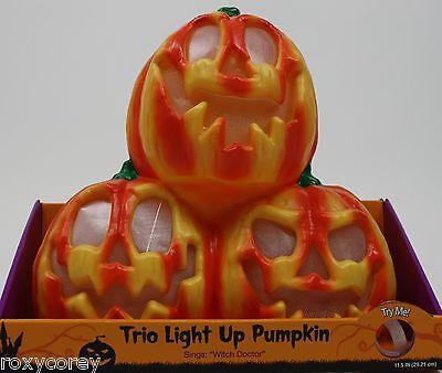 Light Up Pumpkins (Halloween Trio Light Up Pumpkin Lights Up & Sings Witch Doctor)