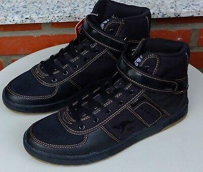Kangaroos Leder-sneaker (KangaROOS Herren Sneaker Stiefelette Canvas + Leder Skywalker III Gr. 40 41 46)
