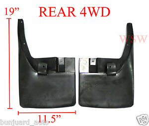 pair rear mud flaps mudguards for nissan navara d40 05 15. Black Bedroom Furniture Sets. Home Design Ideas