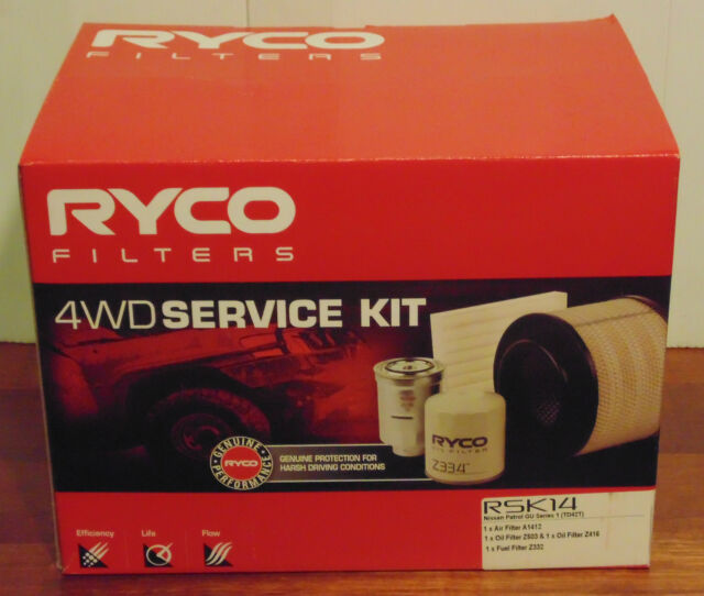 RSK14 RYCO 4WD Service Kit for NISSAN Patrol GU Series 1 TD42T Turbo Diesel