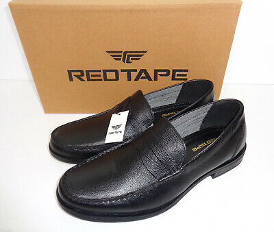 Mens Black Leather Shoes New Formal Slip On Loafers Wedding Office UK Size 7-12
