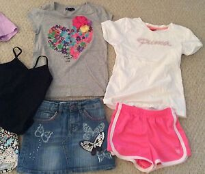 Lot Of 7 Girls Tops Shorts Jean Skirt Size 8-10 (8 Year Old) Cambridge Kitchener Area image 3
