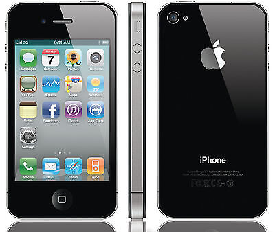 Verizon iPhone 4 8GB Apple Smartphone Black Clean Esn