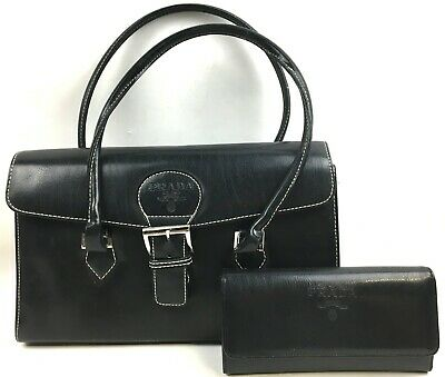 Prada Milano Black Handbag & Wallet