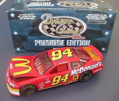 BILL ELLIOTT #94 MCDONALDS 98 RACING CHAMPIONS DRIVER'S CHOICE 1:24 BANK /3,500