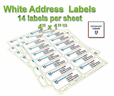 3500 1 1 3 X 4  Labels  14 Labels Per Sheet   Same Size As 5162 Template
