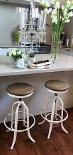 NEW VINTAGE STYLE BLACK OR WHITE SWIVEL BAR STOOLS WITH OAK TOPS!! Casuarina Kwinana Area Preview