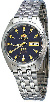 Orient FAB00009D Men's 3 Star Stainless Steel Dark Blue Dial Automatic Watch