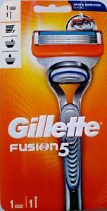 Gillette Fusion 5 Men's Razor 1 Handle + 1 Razor Blade. *100% Genuine UK Stock*