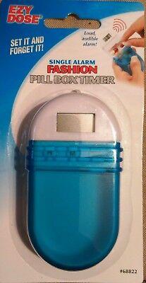 Pill Reminder Alarm - Ezy Dose Pill Reminder Box Case Medicine Organizer SINGLE ALARM TIMER