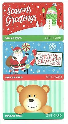 Lot of (3) Dollar Tree Christmas Santa Snowman Gift Cards No $ Value Collectible Dollar Tree Gift Cards