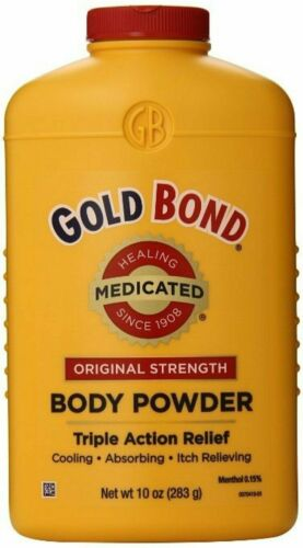 Gold Bond Medicated Body Powder Original w/ Triple Action Relief, 10 oz, 6 pack