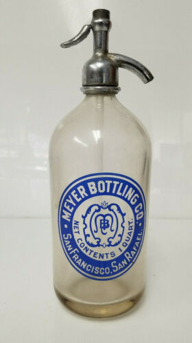 Vintage Seltzer Bottle Meyer Bottling Co San Francisco San Rafael