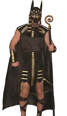 Deluxe Anubis Costume Mens Adult Egyptian Black Dog Canine god of Afterlife - Anubis Egyptian God Costume