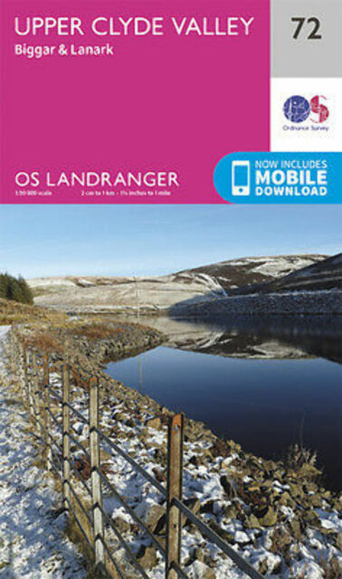 Upper Clyde Valley Biggar & Lanark Landranger Map 72 Ordnance Survey 2016