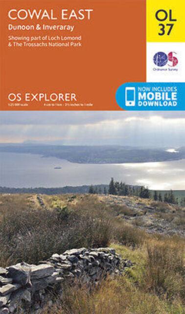 OL37 Cowal East Dunoon Inverary Ordnance Survey Explorer Map OL 37