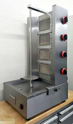 Gyro Shawarma Gas Broiler Vertical Countertop Stainless Ceramic Burners 42h New