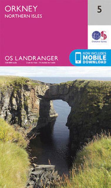 Orkney – Northern Isles Landranger Map 5 Ordnance Survey 2016