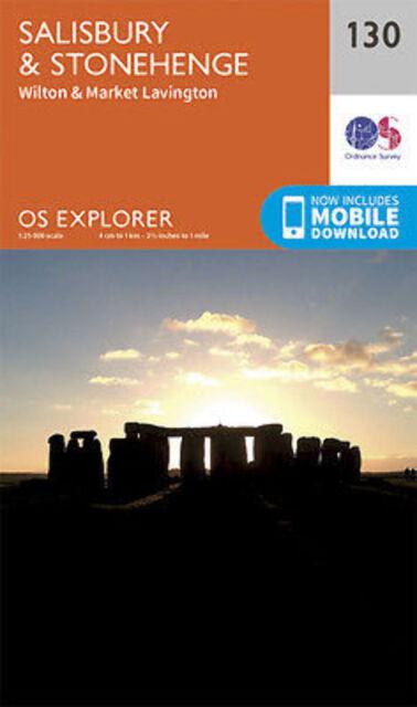 Salisbury and Stonehenge 130 Explorer Map Ordnance Survey 2015